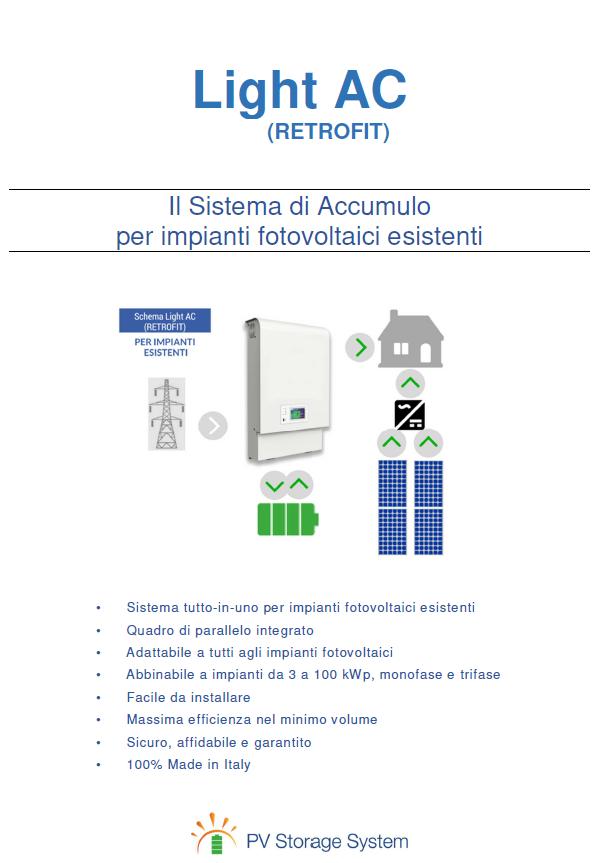 impianti fotovoltaici esistenti con accumulo